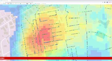 Heatmap in WinCan Esri Viewer