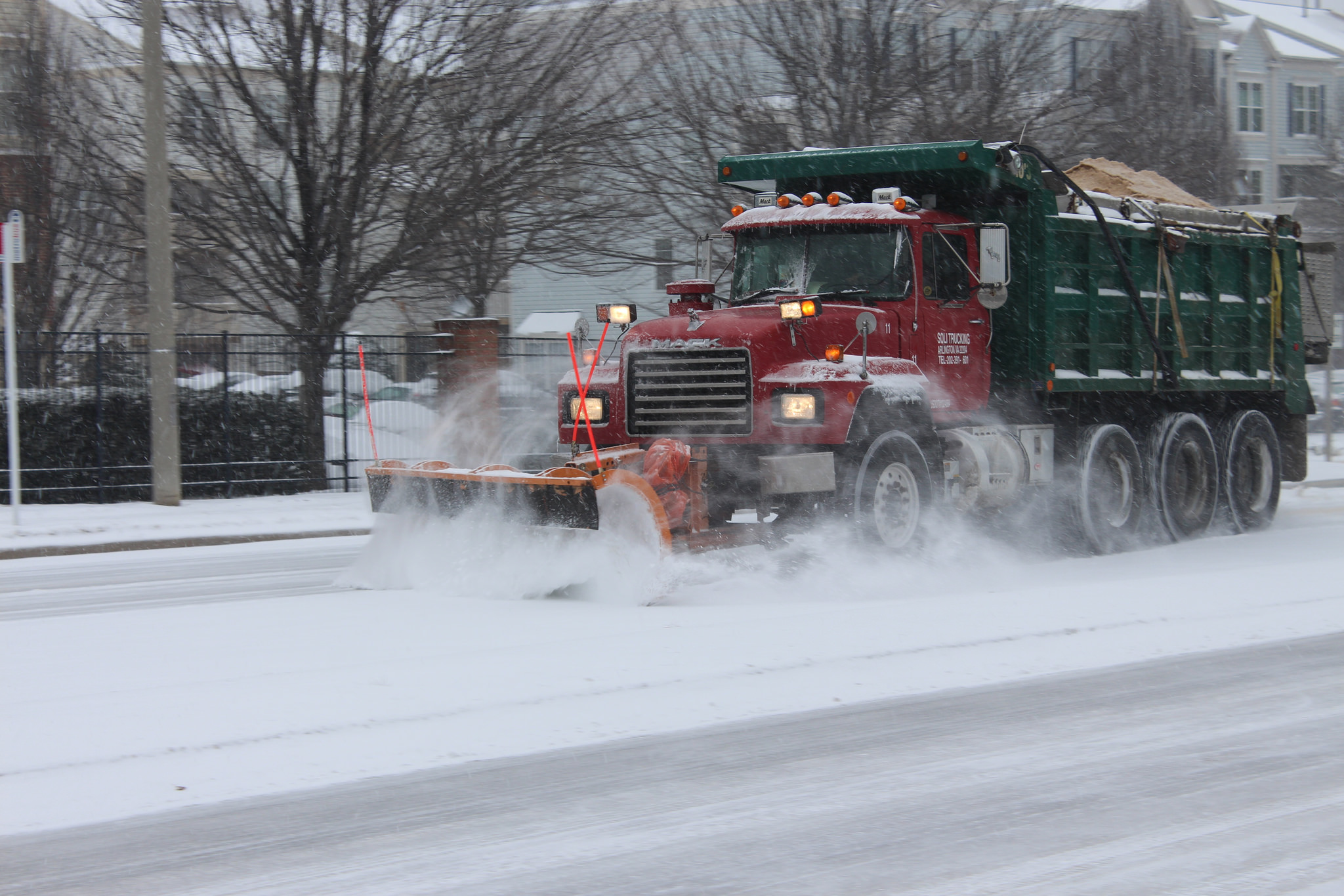 Before performing any maintenance work, roads must be plowed.