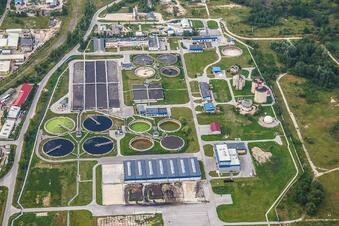 Wastewater treatment plant stock