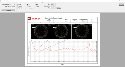 WinCan Laser Scan Ovality Report