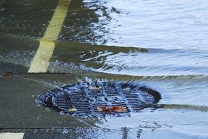 Flooded Sewer Manhole